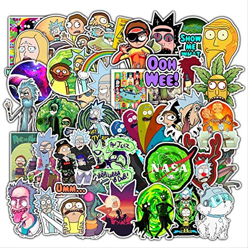 WOCAO Anime Cartoon Car Motorcycle Travel Luggage Trolley Laptop Computer Sticker Toy 50 Pcs/Pack