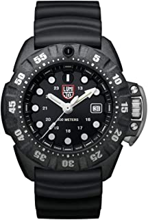 Luminox Men's Wrist Watch Scott Cassell Deep Dive 1551: 45mm Black Display Stainless Steel Case Back 300 M Water Resistant