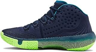 Under Armour Men's HOVR Havoc 2 Basketball Shoe,  Academy (401)/Lime Light, 14
