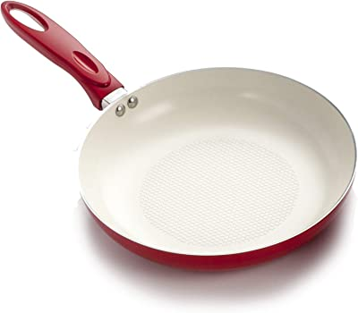 Winware 8 Inch Aluminum Fry Pan with Silicone Sleeve Winco USA AFP-8A-H