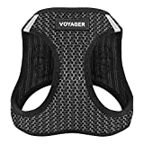Best Pet Supplies Voyager Step-in Air Dog Harness - All Weather Mesh, Step in Vest Harness for Small and Medium Dogs by Best Pet Supplies - Gray, Large (Chest: 18' - 21'), 207-GR-L