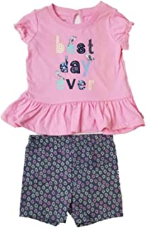 591e6a50e8a61 Infant & Toddler Girls Baby Best Day Ever Pink Bird Shirt Flower Short  Outfit