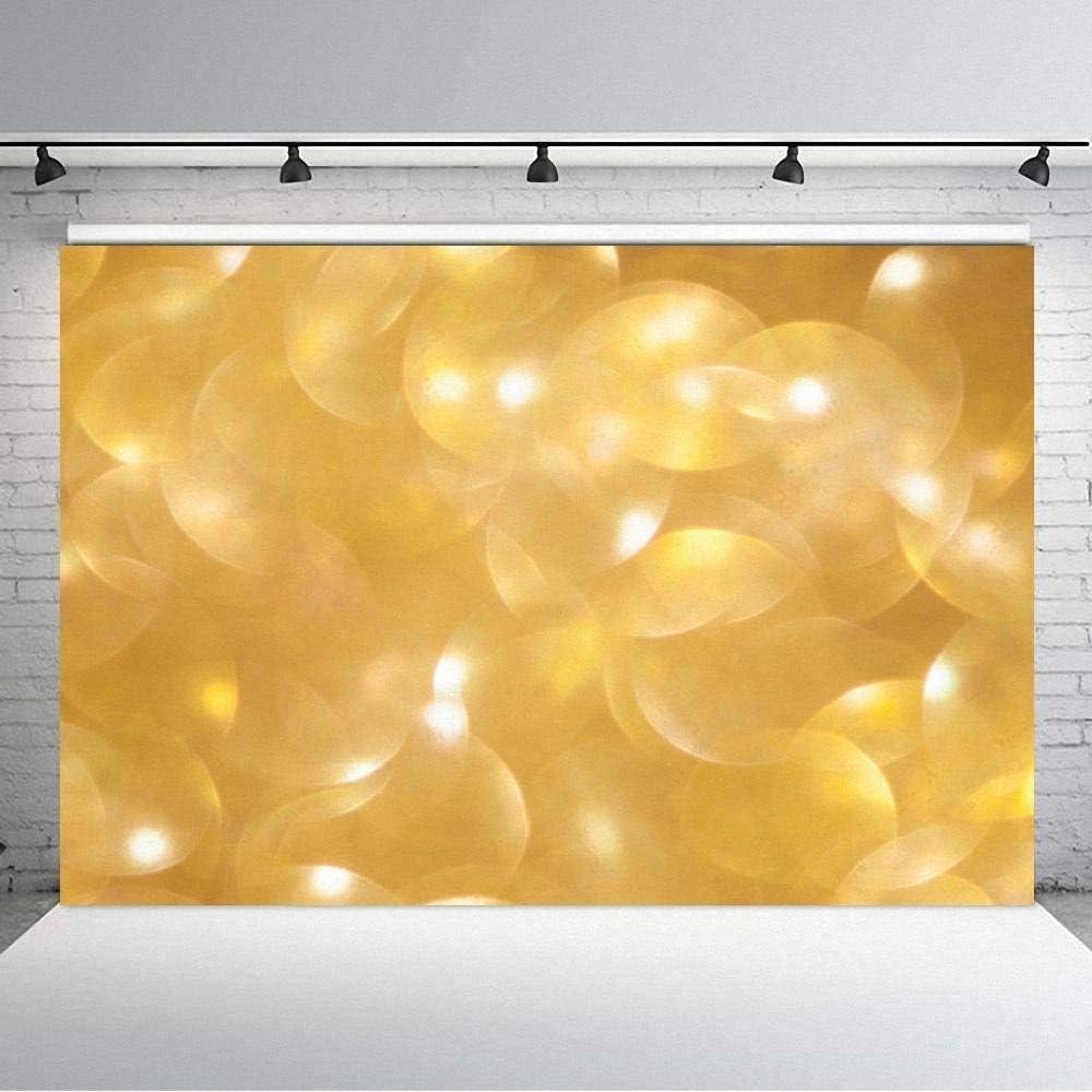 Vinyl Backdrop Shiny Fantasy Polka Dot Backdrop Baby Shower Photo Studio Backdrop Yellow Fantasy Balloon Product Photo Backdrop Photography Background Wall Drop for Party or Outdoor Activit