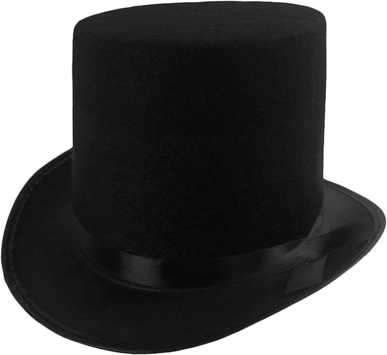 Funny Party Hats Black Top Hat supreme - Men Victorian Direct sale of manufacturer Felt for Tu