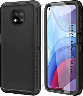 ONOLA Compatible with Moto G Power 2021 Case with HD Screen Protector (2 Pack) [Not for G Power 2020],Moto G Power Case 20...