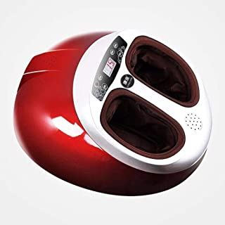 Foot Massager Foot Therapy Machine Foot Massager Fully Automatic Massage Foot and Leg Foot Beauty Treasure, 8589 Chinese Red Classic