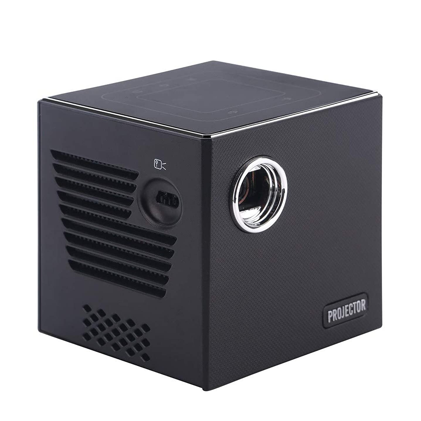 Smart DLP LED Projector - Optical Lens Technology 1080P Full HD Mini Portable Home Entertainment Projector, Movie Projectors, Brightness Video Projector, Home Entertainment (? Black)