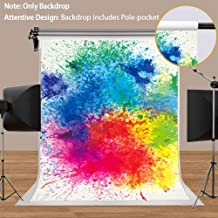 Paint Splatter Backdrop Abstract Painting Photography Background MEETSIOY 5x7ft Themed Party Photo Booth YouTube Backdrop LXMT1191