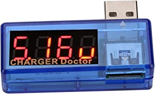 SEDOOM Tester De Cargador USB, Voltímetro Monitor De Voltaje De Voltímetro Detector del Medidor De Corriente (Azul)