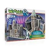 Wrebbit 3D- Nueva York el Distrito Financiero Puzzle 3D, Multicolor (W3D-2013)