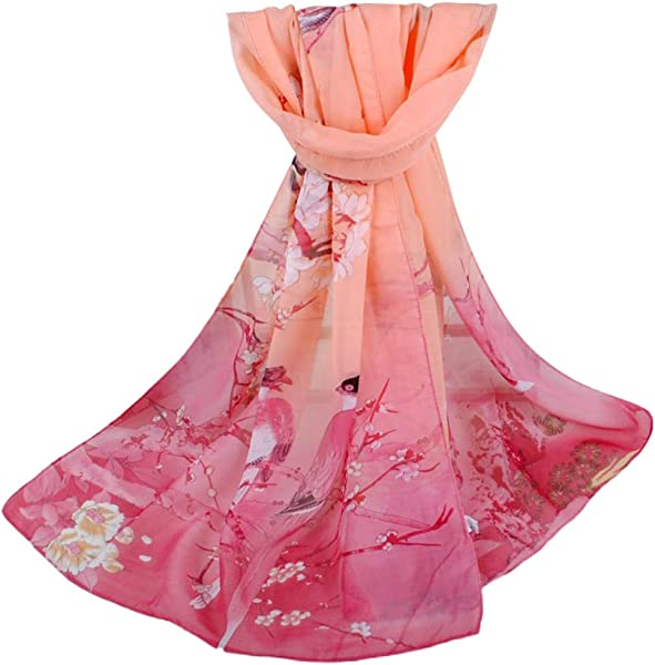 Lomsarsh Gradient Printed Soft Chiffon Shawl Wrap Scarf Women S Fashion Fantasy Air Conditioning Shawl Scarf Sunscreen Shawls Wraps Printing Long Soft Wrap Scarf For Headscarf Neck