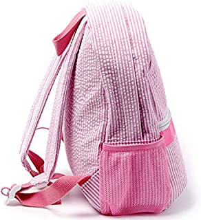 Blank Backpack Preschool Kid Child's Bookbag 1513.5 Cotton Seersucker Back to school Bag