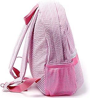 Blank Backpack Preschool Kid Child's Bookbag 1513.5 Cotton Seersucker Back to school Bag