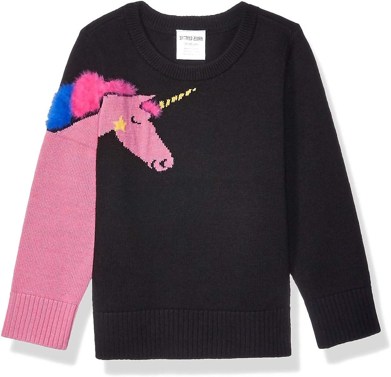Amazon [Alternative dealer] Brand - Spotted Attention brand Zebra Pullover Crew Sweaters Girls'