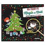 Magie de Noël : 5 cartes à gratter scintillantes, 5 coloriages, 1 pique en bois