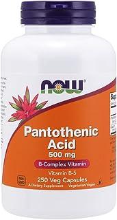 NOW Supplements, Pantothenic Acid (Vitamin B-5) 500 mg, B-Complex Vitamin, 250 Capsules