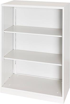 届け先法人限定 オフィスコム スチール書庫 キャビネット アーチー オープン書庫 下置き用 ベース付き 幅800×奥行400×高さ1100mm