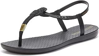 Glam Nautical Womens Sandals Black