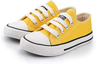 Meckior Unsix Kids Boys Girls Canvas Low Top Gym Shoes Trainers Sneakers(Toddler/Little Kid/Big Kid)