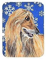 Caroline's Treasures Afghan Hound Winter Snowflakes Holiday Mouse Pad/Hot Pad/Trivet (SC9499MP) [並行輸入品]