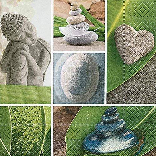 Paper+Design Zen Garden Multicolour 20pc – (s) Paper Napkin Paper Napkins (Multicolour, Image, 330 mm, 33 cm, 20 pc (s))