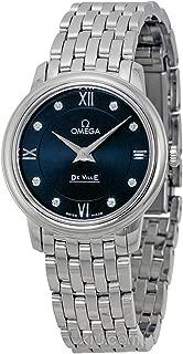 DeVille Prestige Blue Diamond Dial Stainless Steel Ladies Watch 42410276053001