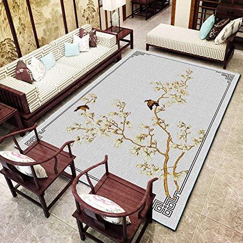 B-D Teppich Chinesischen Stil Art Deco Teppich Home Wohnzimmer Schlafzimmer Nacht Rechteckiger Rutschfester Teppich, A10,