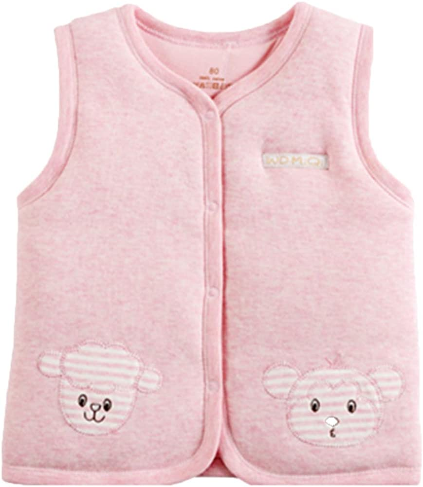 Monvecle Baby Cotton Atlanta Mall Warm Vests Infant Fixed price for sale Toddler to Padded Unisex