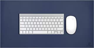 OFFIDIX Office Desk Mat,Desktop PU Leather Desk Pad Non-Slip Leather Protective Desk Matt Laptop Mat Gaming Writing Mat for Laptop PC Keyboard (Dark Blue, 24