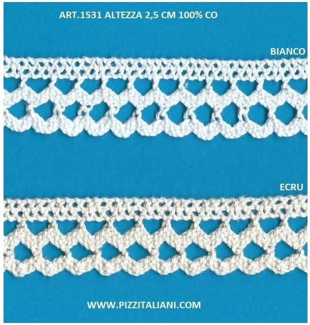 Spring new Inexpensive work PIZZITALIANI LACES RIBBONS SINCE 1953 Tr Scalloped Lace Cotton