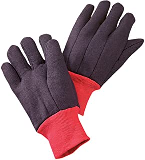 Radnor X-Large Brown 13 Ounce 25% Cotton/75% Polyester Jersey Gloves With Red Knitwrist Fleece Lining (12 Pair)