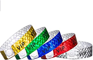 Ouchan Multicolor Holographic VIP Wristbands Variety Pack - 200 Pack Colored Wristbands for Events Club Music Meeting Party Wristbands
