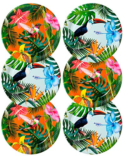 Talking Tables Pack of 12 :Size 23cm Paper, Tropical Plates