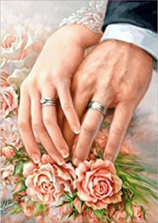 Couple Holding Hands Diamond Painting - PigPigBoss 5D Full Drill Diamond Dots Kits - Wedding Decoration Gift Diamond Painting by Numbers Cross Stitch Art (11.8 x 15.7 inches)