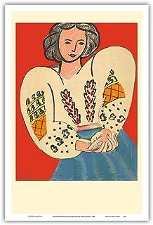 Romanian Blouse (La Blouse Roumaine) - Matisse - from an Original Color Lithograph by Henri Matisse c.1940 - Master Art Pr...