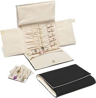 leather travel jewellery case