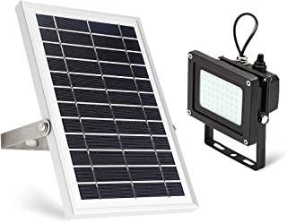 Solar Flood Light,JPLSK Dusk to Dawn 6W Solar Panel 54Leds IP65 Waterproof Solar Powered Flood Light Outdoor Security Light Fixture for Flag Pole,Sign,Garden,Farm, Shed,Pool,Camping,Garage,Auto-on off