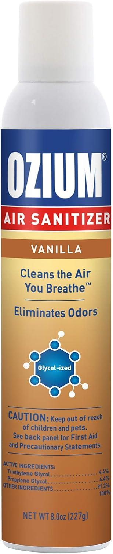 Ozium 8 Oz. Air Sanitizer Indefinitely Odor 1 Ca Pack for 2021 Eliminator Homes