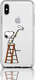 Case for Apple iPhone Protective Case Snoopy Charlie Brown Stripes Clear Transparent Silicone Flexible Design Art Cover iPhone (Paint It Snoopy, iPhone 5/5S/SE)