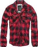 Brandit Camicia A Quadri Uomo Flanella Hemd - rosso-nero, M...