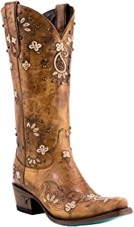 Sweet Paisely Womens Western Mid Calf Boot, Grey…