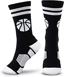 Basketball Woven Mid-Calf Socks | Classic Basketball | Multiple Colors