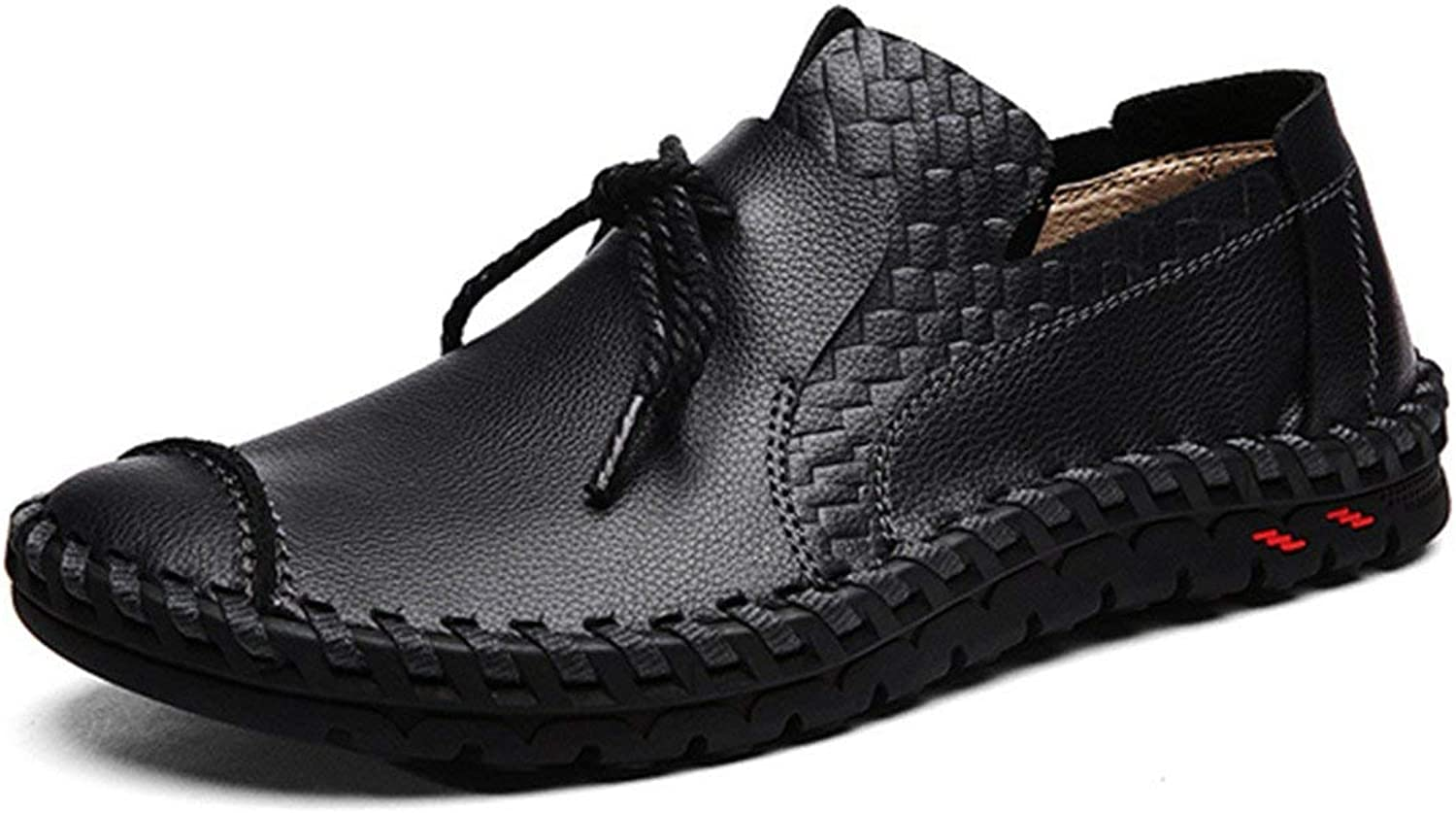Gracosy Men's Loafers Suede Leather Moccasins Boat & Driving Slip-On Flat shoes Outdoor Slipper Spring Summer Casual Handmade Men's shoes Work Comfort Leather Lace-Up Loafer Flats Pumps