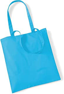 Stoffbeutel Baumwolltasche Beutel Shopper Umhängetasche viele Farbe Surf Blue