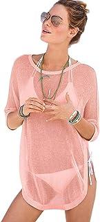 8b070d68 Amazon.es: Blusas Transparentes - Ropa de baño / Mujer: Ropa