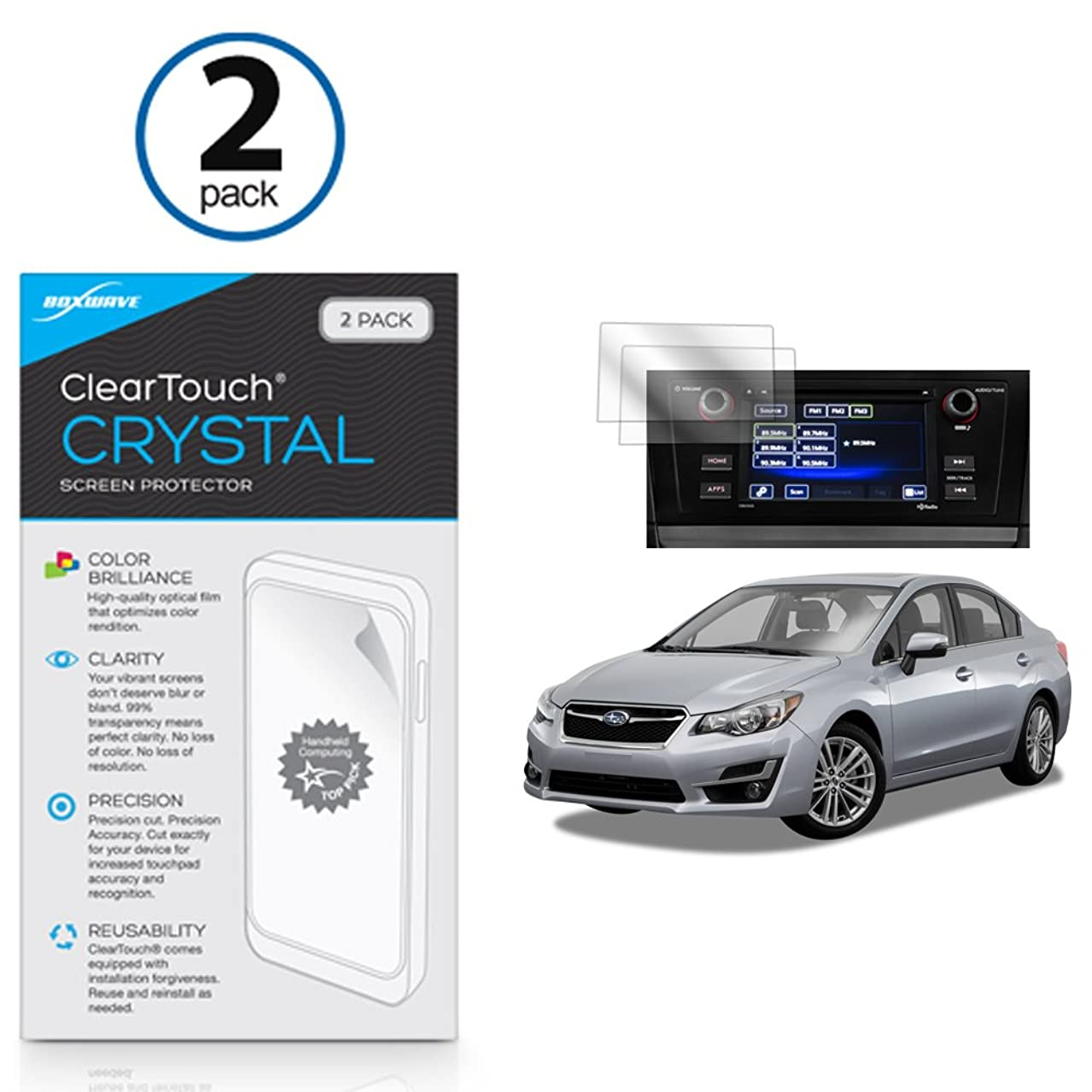 Subaru 2016 Impreza (6.2 in) Screen Protector, BoxWave [ClearTouch Crystal (2-Pack)] HD Film Skin - Shields from Scratches for Subaru 2016 Impreza (6.2 in)
