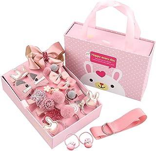 18pcs Girl exquisite headdress set gift box lovely hairpin headdress flower headwear for little girls