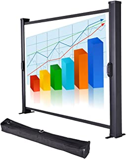 "Yescom 30"" Diagonal Tabletop Mini Projector Screen Projection w/Carrying Bag for Conference Office"