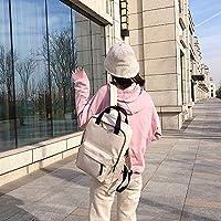 林オックスフォード布防水スクールバックパックカジュアルハンドバッグショルダーバッグ Chenhuis (Color : Beige)