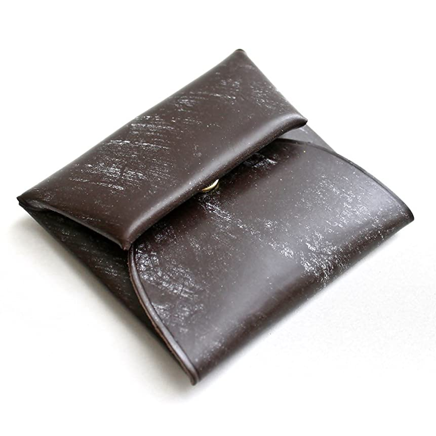 心配メルボルンカードホークカンパニー Hawk Company ブライドルレザーコインケース 12-7215 チョコ